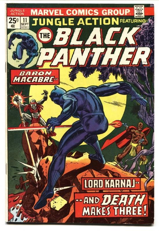 JUNGLE ACTION #11 BLACK PANTHER - comic book 1974 FN+
