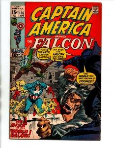 Captain America #136 - Falcon - Nick Fury - 1971 - FN/VF