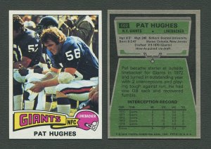 1975 Topps Football /  Pat Hughes #502 / NM-MT+