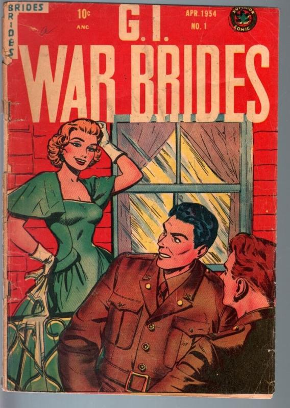 Action comics 183 1953 superman lois lane golden age vg hipcomic gi war brides 1 1954 military romance comic spicy thecheapjerseys Gallery