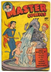Master Comics #74 1946- Captain Marvel Jr- Bulletman VG-