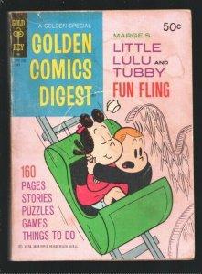 Golden Comics Digest #23 1972-Little Lulu & Tubby-Comics-puzzles-games-VG-
