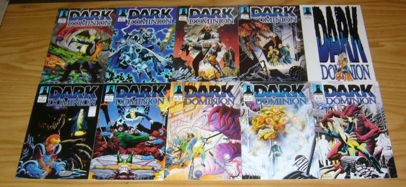 Dark Dominion #1-10 VF/NM complete series - signed - concept created by ditko