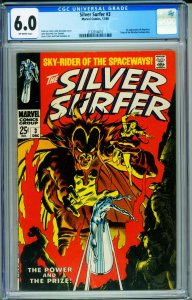 Silver Surfer #3 CGC 6.0 1968 silver age Marvel 1st Mephisto 2132014010