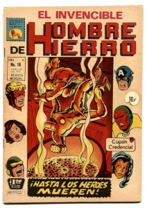 Iron Man #18 1970- Mexican comic book- Avengers FN