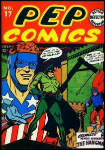 Flashback #16 1974- Pep #17 reprint 1st Hangman Rare golden age VF