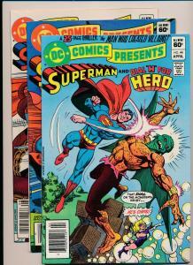 LOT OF 3 DC Presents SUPERMAN& HERO#44, &FIRESTORM#45, AQUAMAN#48 F/VF(PF124)