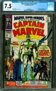 Marvel Super-Heroes #12 CGC Graded 7.5 Origin and 1st appearance of Captain M...