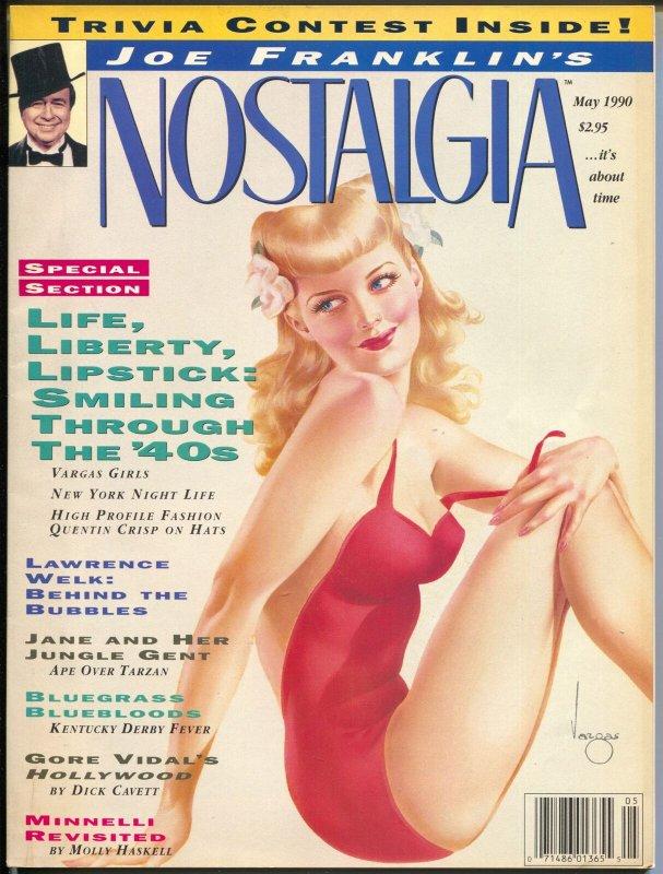 Joe Franklin's Nostalgia 5/1980-2nd issue-Vargas pin-up girls-Tarzan-VF