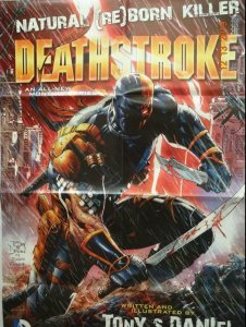 DEATHSTROKE Promo Poster, 23 x 34, 2014, DC,  Unused more in our store 337