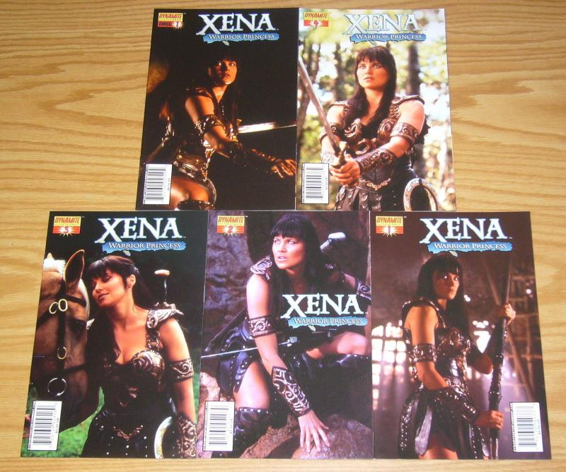 Xena Warrior Princess #1-4 VF/NM complete series + annual - all photo C variants
