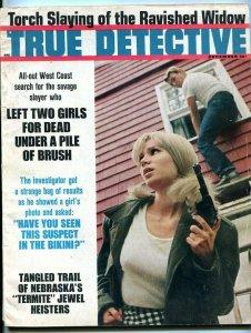 TRUE DETECTIVE-DEC/1966-BIKINI SUSPECT-RAVISHED WIDOW-TERMITE JEWEL HEI G/VG