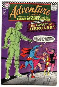 ADVENTURE COMICS #357 FERRO LAD GHOST SUPERBOY VF