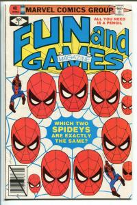 MARVEL FUN AND GAMES #3 1979-UNWORKED PUZZLES AND GAMES-SPIDERMAN-DIRECT ED.-vf