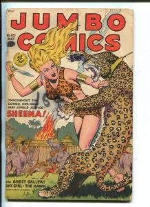 JUMBO #123-1949-FICTION HOUSE-SHEENA-SKY GIRL-GHOST GALLERY-good/vg