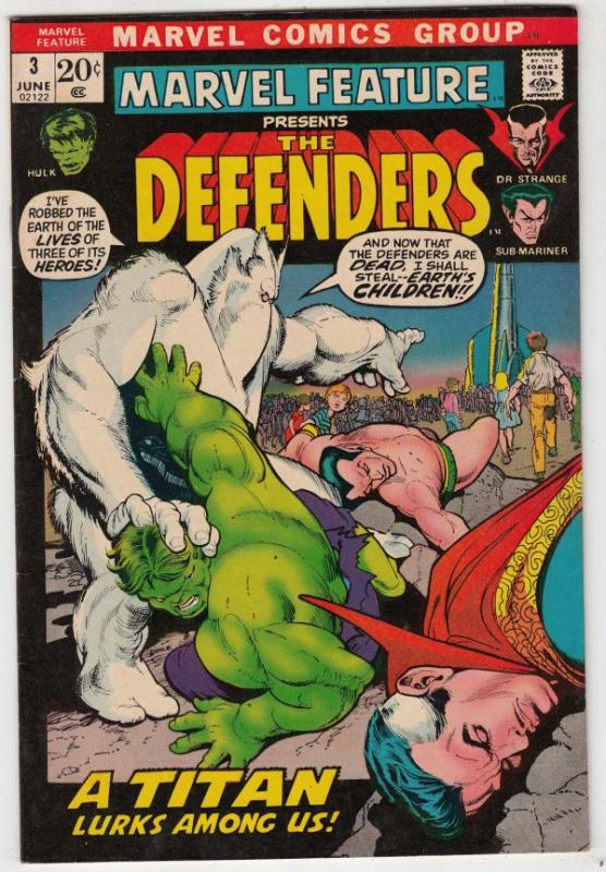 Marvel Feature presents Defenders, The #3 (Jun-72) VF/NM High-Grade Dr.Strang...