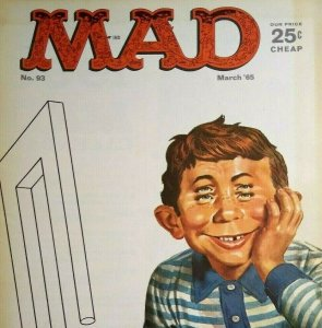 Mad Magazine March 1965 No 93 The Beatles The Flying Ace Movie Parody Kiddie TV