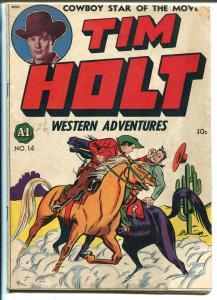 Tim Holt Western Adventures #1 1948-ME-1st issue-Frank W. Bolle art-photos-VG
