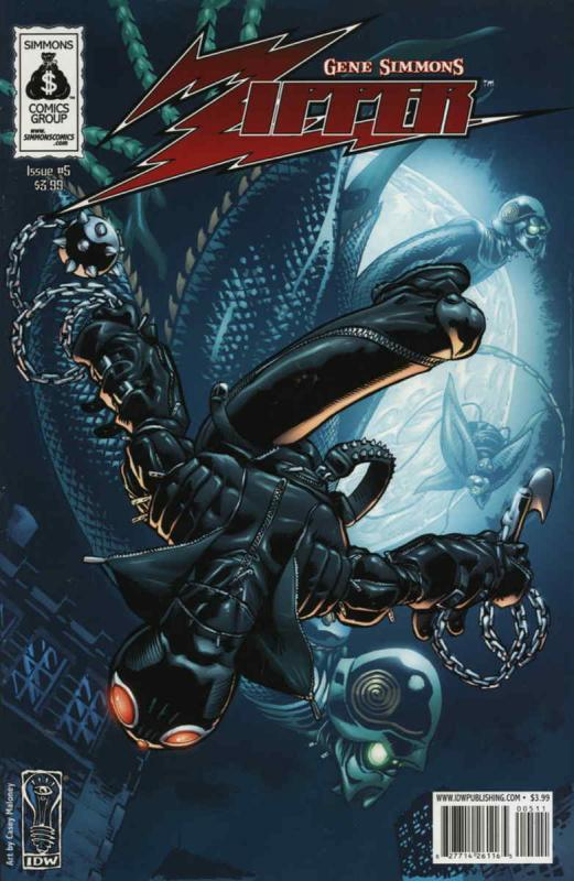 Zipper (Gene Simmon's…) #5 VF/NM; IDW | save on shipping - details inside