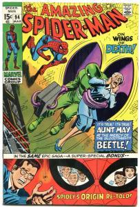 AMAZING SPIDER-MAN #94-JOHN ROMITA-SAL BUSCEMA-ORIGIN VF-
