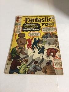 Fantastic Four 15 Vg Very Good 4.0 Top Staple Detached Tape Marvel Silver Age