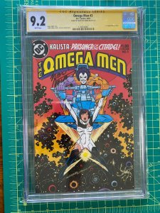 OMEGA MEN # 3 CGC Signature Series 9.2 White Pages 1ST APP LOBO 1983