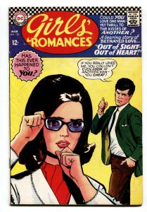 GIRLS' ROMANCES #123-D.C. ROMANCE-SILVER AGE-comic book 1967