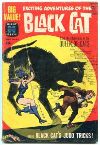 BLACK CAT #65 HARVEY GIANT- 1963 LAST ISSUE JUDO TRICKS VG
