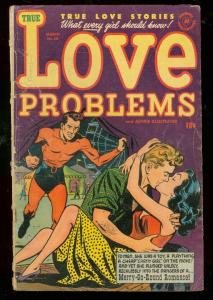 LOVE PROBLEMS #20 1953-SPICY-HARVEY COMICS-POWELL ART G