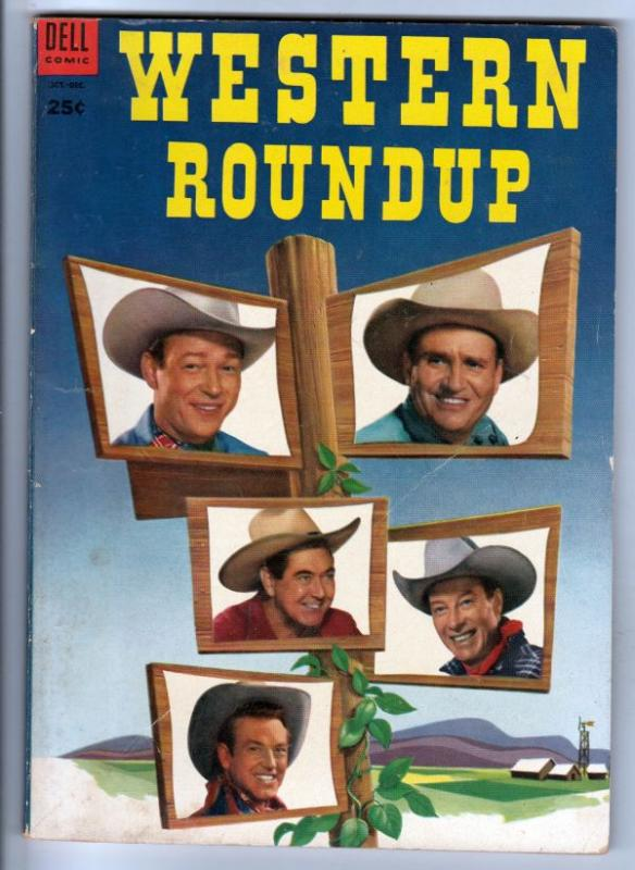 Dell Giant Western Roundup #4 (Oct-53) FN Mid-Grade Roy Rogers, Dale Evans, J...