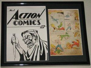 Action Comics #1 Ashcan Framed Photo Display Official RP Slam Bradley
