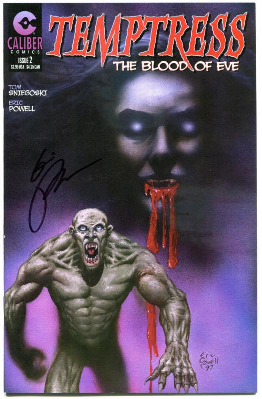 TEMPTRESS The Blood of EVE #2, VF, Signed by Eric Powell of Goon, Caliber, 1997