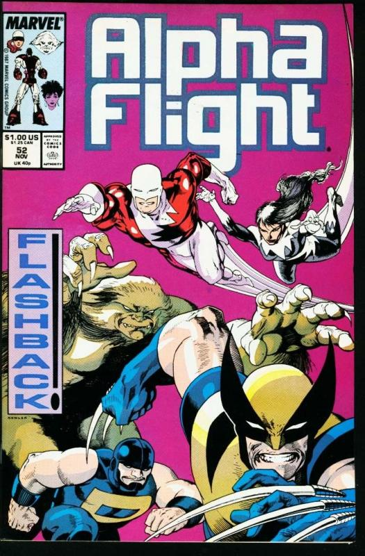 ALPHA FLIGHT #52-MARVEL COMICS-MUTANTS!-JIM LEE NM