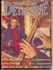 Thrilling Detective 4/1947-gun moll cover-hard boiled pulp crime-FR/G