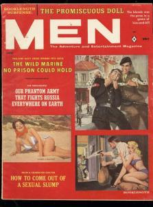 MEN MAG-6/1961-SANDRA KIRSCHNER-NAZI COVER-COPELAND ART FN