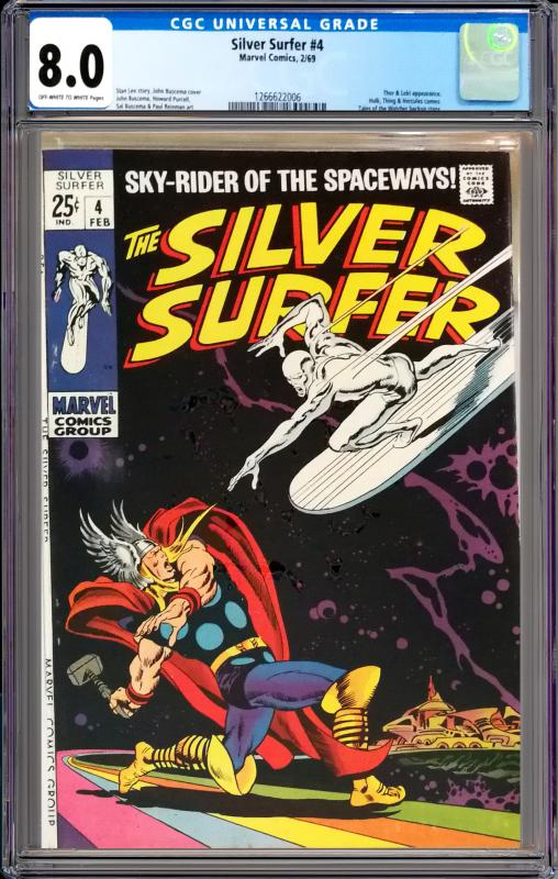 Silver Surfer #4 CGC Graded 8.0 Thor & Loki Appearance