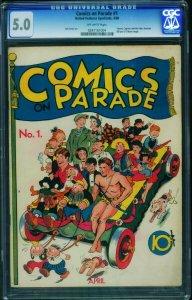 COMICS ON PARADE #1 CGC 5.0-1938-TARZAN-Golden-Age 0247161004