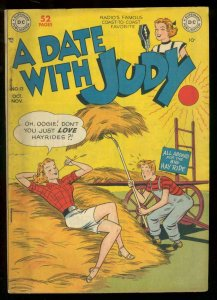 A DATE WITH JUDY #13 1949 DC COMICS HAYSTACK COVER VG+