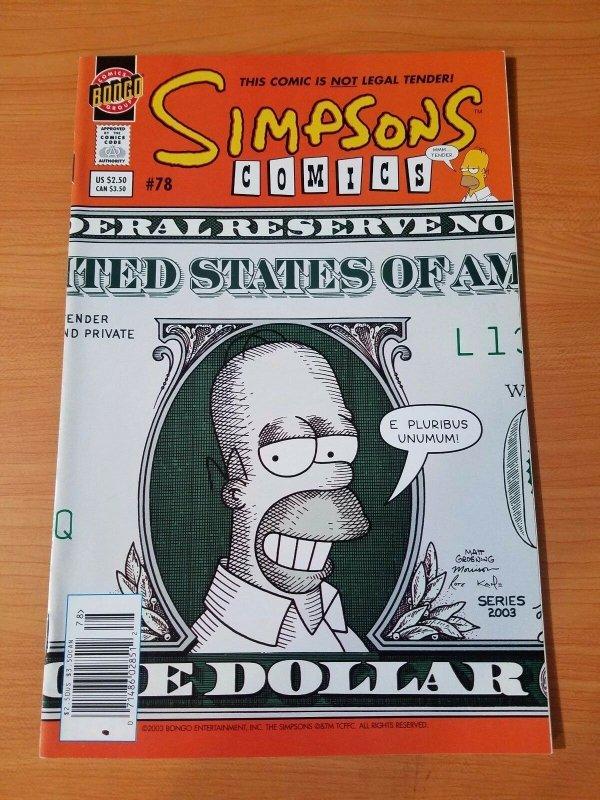 Simpsons Comics #78 ~ NEAR MINT NM ~ (2003, Bongo Comics)