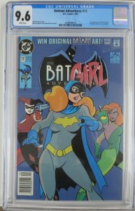 BATMAN ADVENTURES #12 (DC,9/1993) CGC 9.6 White Pages, First Harley in comics