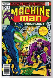 MACHINE MAN #4, FN+, Jack Kirby, Living Robot, 1978, more in store