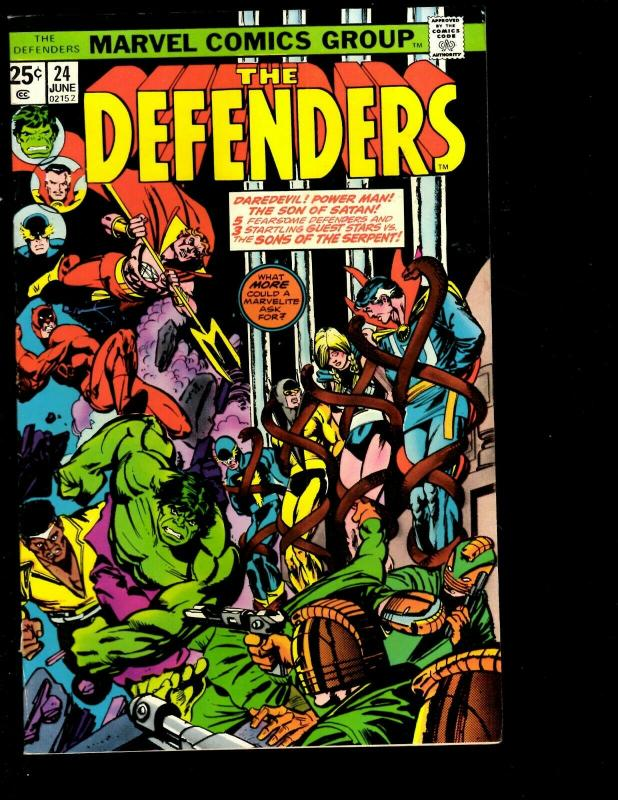 Lot of 7 Defenders Marvel Comic Books 21 24 32 33 34 35 36 Spider-Man JF10