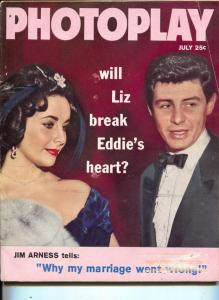 Photoplay-Liz Taylor-Eddie Fisher-David Niven-Joan Crawford-Brigitte Bardot-July