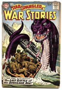 Star Spangled War Stories #92 1960-2nd dinosaur issue DC