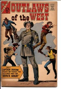 Outlaws Of The West #65 1967-Charlton-Capt Doom-G/VG