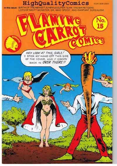 FLAMING CARROT #15, NM, Variant, Signed by Bob Burden, more FC in store