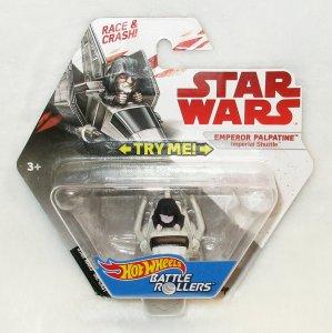 Star Wars Battle Rollers Emperor Palpatine Imperial Shuttle Hot Wheels 2017 New
