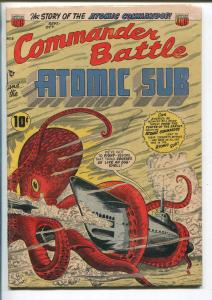 COMMANDER BATTLE AND THE ATOMIC SUB #2 1954-ACG-ROCKETS-ALIENS-WAR-vg/fn
