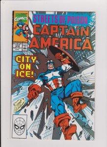 CAPTAIN AMERICA #372  VF/NM 1990 MARVEL COMICS