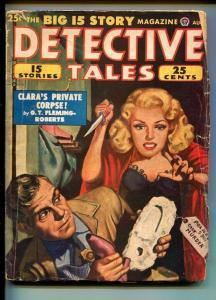DETECTIVE TALES 04/1949-G T FLEMING-ROBERTS-JOHN D MACDONALD-PULP-good/vg